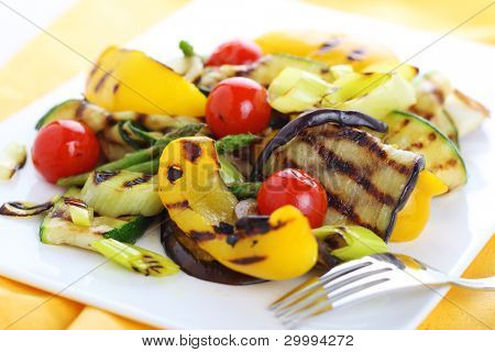 Grilled vegetables (zucchini, eggplant, onions, peppers, asparagus, tomato)