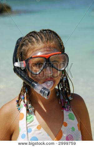 Girl With Snorkel Mask