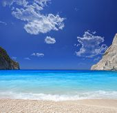 stock photo of greek-island  - Famous shipwreck beach  - JPG
