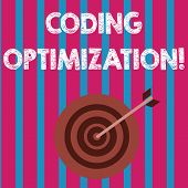 Word Writing Text Coding Optimization. Business Concept For Method Of Code Modification To Improve C poster