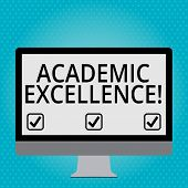 Handwriting Text Academic Excellence. Concept Meaning Achieving High Grades And Superior Perforanaly poster
