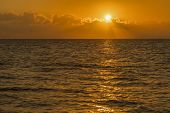 Colorful Dawn Over The Sea, Sunset. Beautiful Magic Sunset Over The Sea. Beautiful Sunset Over The O poster