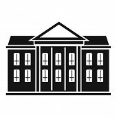 Classic Courthouse Icon. Simple Illustration Of Classic Courthouse Icon For Web Design Isolated On W poster