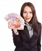 pic of fantail  - Woman with  money - JPG