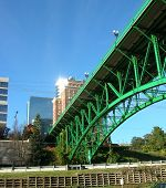 pic of knoxville tennessee  - Green iron road bridge in Knoxville - JPG