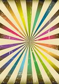 multicolor sunbeams poster. A vintage poster for you.