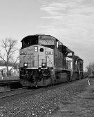 B&W Modern Locomotive