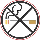 Постер, плакат: Для некурящих