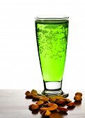 Irish green beer, traditional alcohol for st.Patrick's day holiday celebration, lucky clover beverag