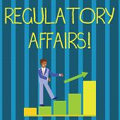 Writing Note Showing Regulatory Affairs. Business Photo Showcasing The Desire Of Governments To Prot poster
