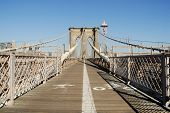 picture of brooklyn bridge  - Bike and Pedestrian Lanes on the Brooklyn Bridge New York - JPG