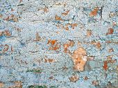 Concrete Wall Cracked Paint Abstractly Behind The Concrete, Texture Pattern poster