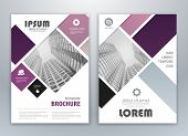 Purple Modern Brochure Design, Brochure Template, Brochures, Brochure Layout, Brochure Cover, Brochu poster