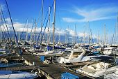 image of larnaca  - Yachts in Larnaca port - JPG