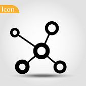 Connection Linear Outline Vector Icon. Connection Concept Stroke Symbol Design. Thin Graphic Element poster