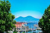 Napoli Bay (naples Bay), Vesuvius Volcano. Beautifull Seascape, Beautiful Panorama, Italy. poster