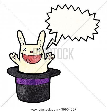 cartoon rabbit in hat trick