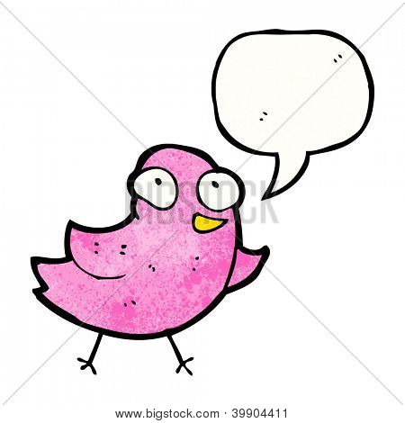 cartoon bird tweeting