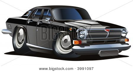 Vector Cartoon Classic Car