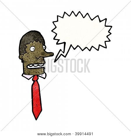 cartoon stressed businessman shouting