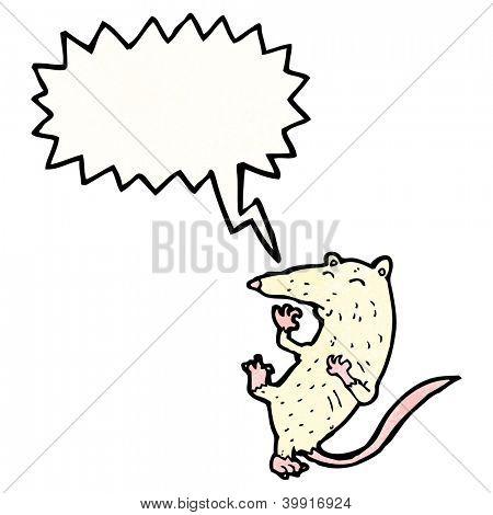cartoon rat with speech bubble