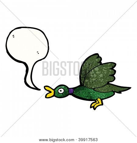 cartoon quacking duck