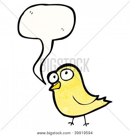 cartoon tweeting bird