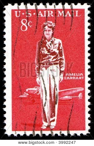8 Cent Airmail Amelia Earhart