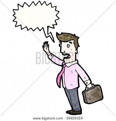 cartoon businessman shouting