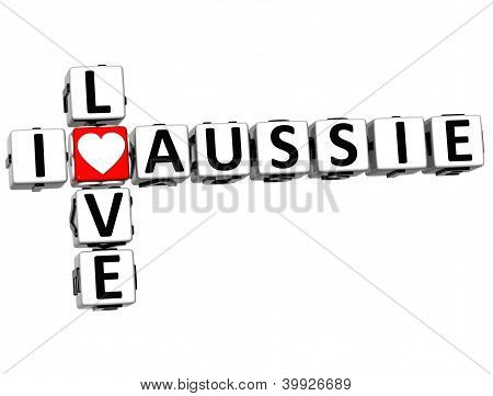 3D I Love Aussie Crossword