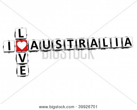 3D I Love Australia Crossword