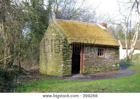 Irish Labourer's Thatched Cottage