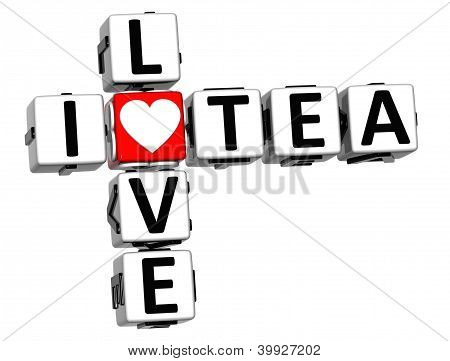 3D I Love Tea Crossword