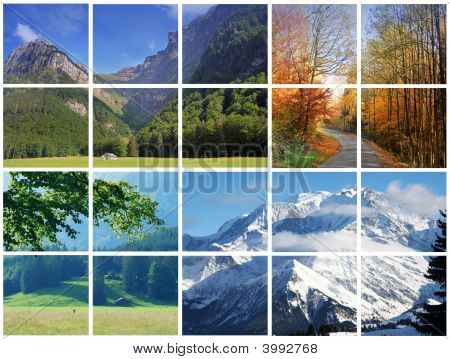 Alps Seasons Collage