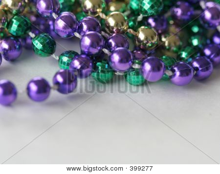 Mardi Gras Beads Close Up Top