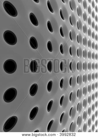 Abstract Black High-Tech Mesh Structure. 3D Rendered Image.