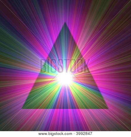 Rainbow Sunburst Pyramid