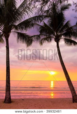 Sunset Divine Fiery Backdrop