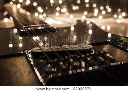 electric guitar with light flashers