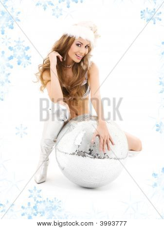 Santa Helper With Big Disco Ball