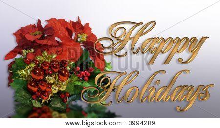 Tarjeta de Navidad feliz Navidad flores