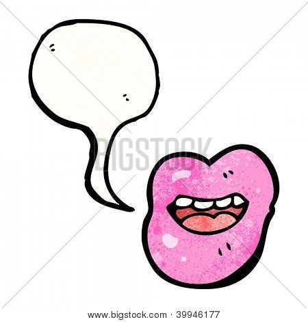 talking lips cartoon