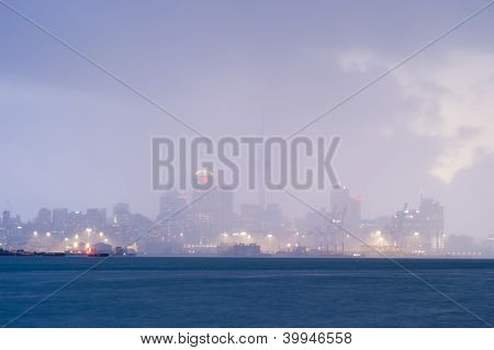 Auckland In A Raincloud, New Zealand