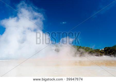 Champagne Pool In Wai-o-tapu Geothermal Wonderland, New Zealand