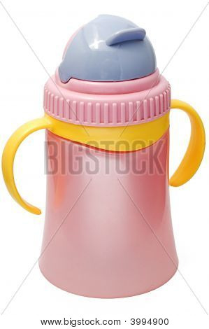 Plastic Sippy Cup, Purple With Violet Cover
