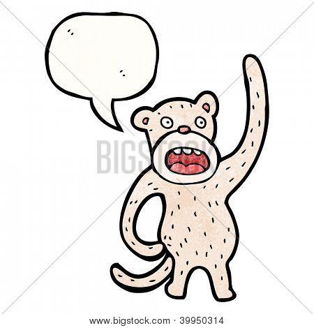 cartoon monkey scratching it's butt
