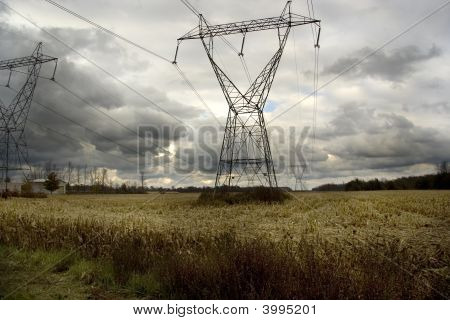Power Lines On Stormy Afternoon