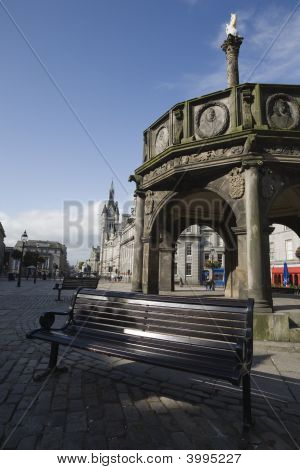 Calm Sunny Day In Central Aberdeen, Uk