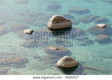 Rocks In Clear Lake Water
