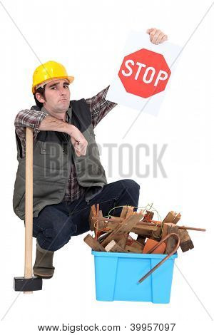 Builder urging you to recycle